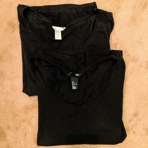Bundle of two H&M black t-shirts size L